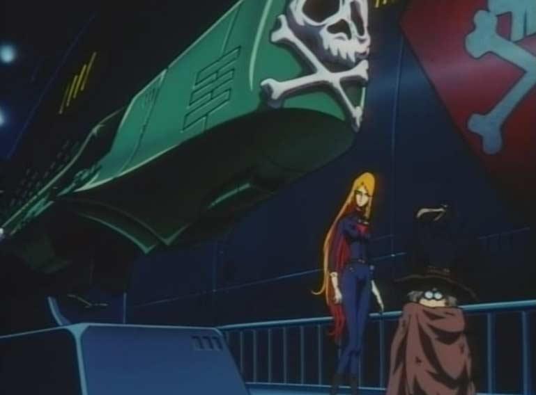Toshirô a réparé le Queen Emeraldas et conçu l'Arcadia d'Harlock