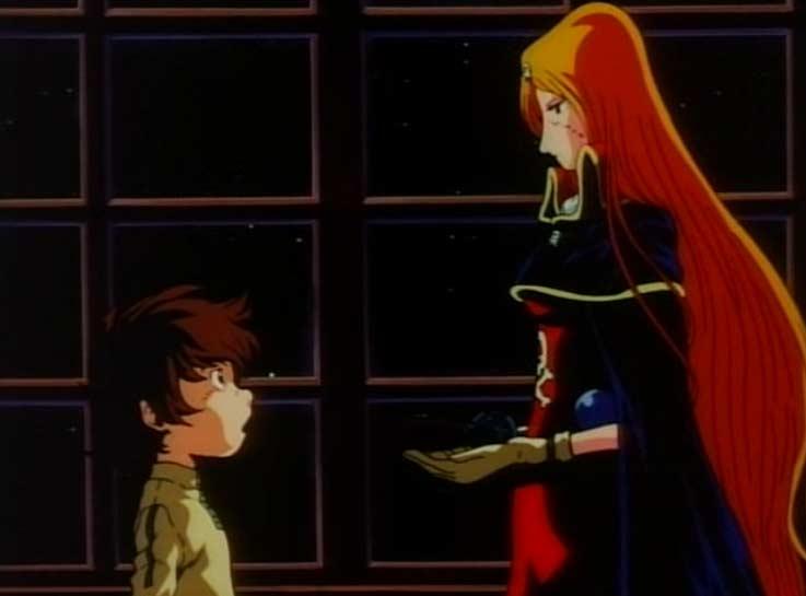 Emeraldas offre le Cosmo Gun de Toshirô à Hiroshi