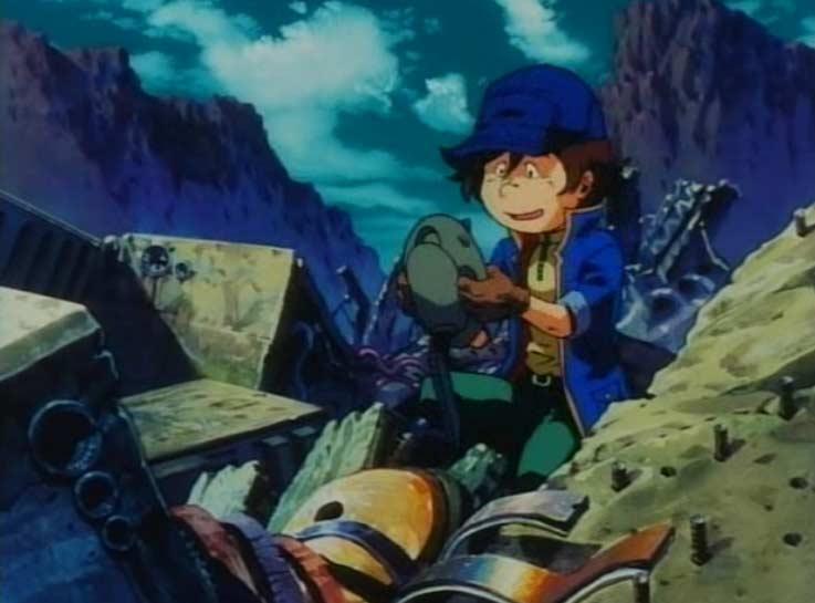Hiroshi se sert de pièces tirées d'épaves pour fabriquer son vaisseau