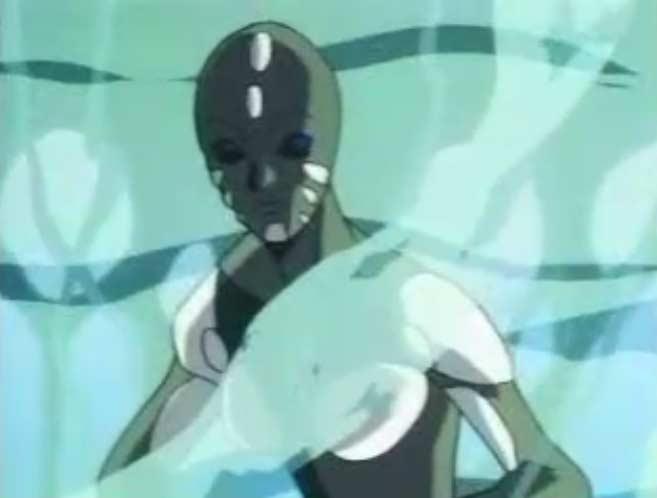 L'explosion du Cosmo Gun a pulvérisé le bras de Sirène et a brulé sa peau synthétique