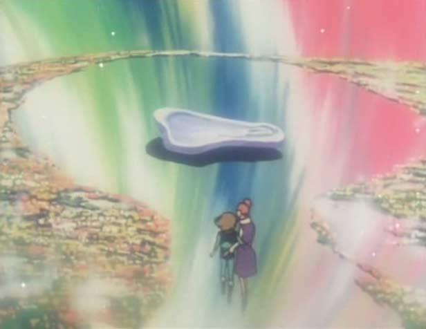 En se faisant passer pour la mère de Ramis, Erossa arrive à soutirer des informations sur l'Atlantis