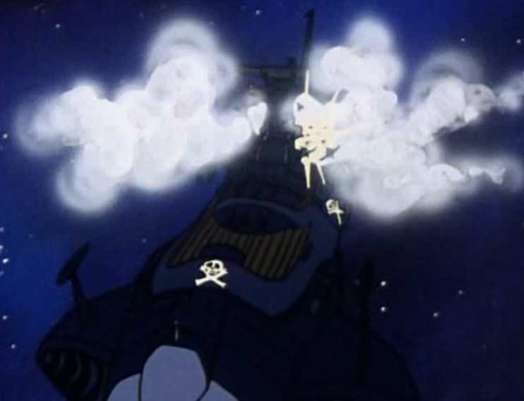 Grâce à de la fumée, l'Atlantis simule des dommages