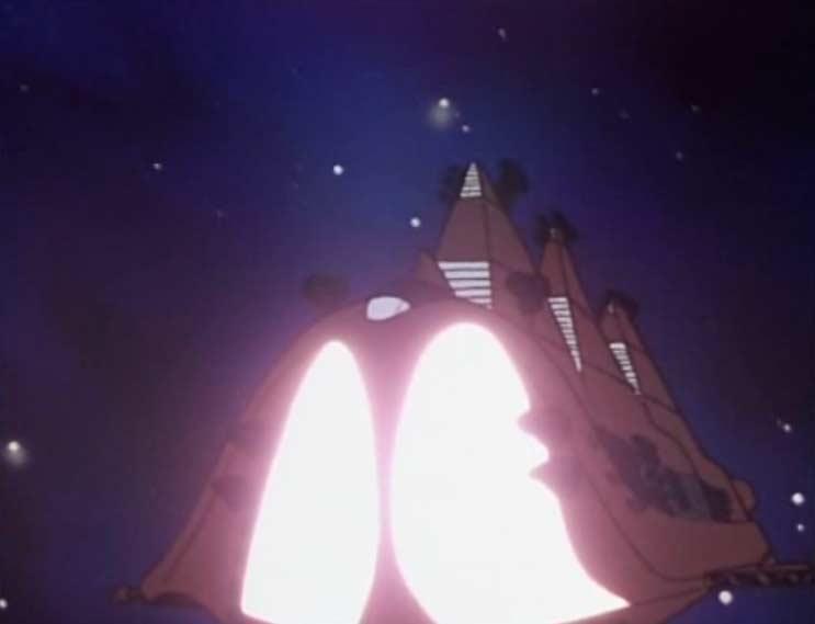 Croyant l'Atlantis endommagé le vaisseau sylvidre s'approche pour l'achever