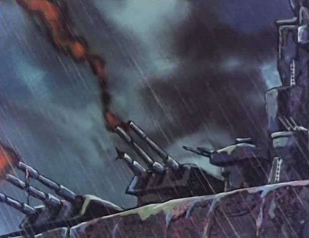 L'Atlantis endommage les tourelles