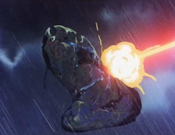 Le tir concerté des tourelles de l'Atlantis touche de plein fouet le bateau fantôme