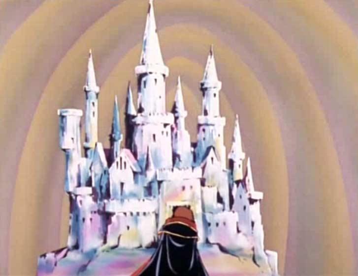 Albator arrive devant un château de glace