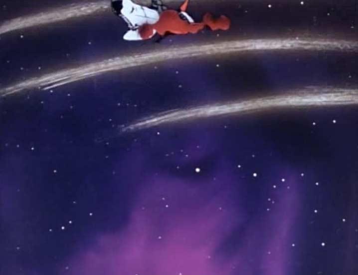 Le vaisseau du capitaine Tornadéo est endommagé et est pris dans un tourbillon spatial