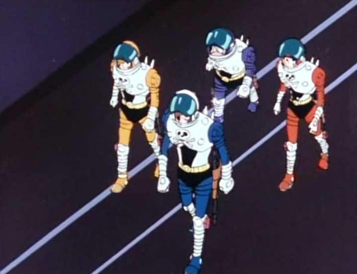 Albator et son équipe explorent l'épave du vaisseau de Tornadéo