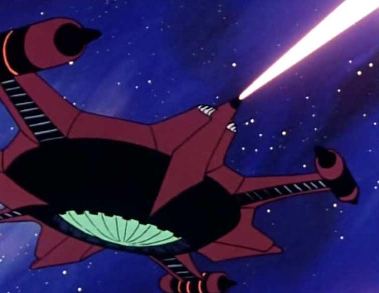 Le vaisseau de Madeleine attaque l'Atlantis