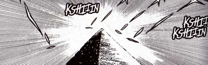 Albator découvre au fond de la mer une étrange pyramide