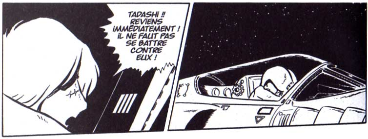 Albator ne veut pas affronter les Tokagiens et tente de prévenir Tadashi