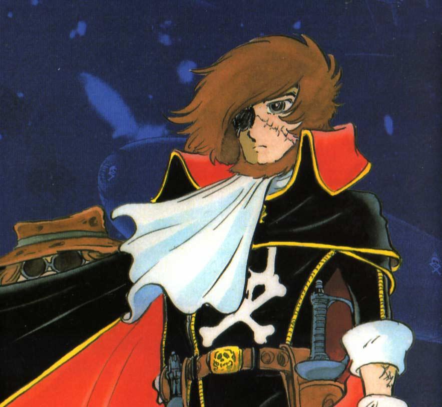 Great Harlock a le même visage que son fils Albator, la seule différence est qu'il porte la barbe.