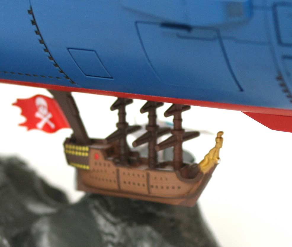 On ne perçoit pas très bien les détails du galion