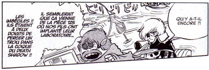 Albator et Toshiro, les fils respectifs de Great Harlock et Oyama font quelques dégâts avec leurs expériences