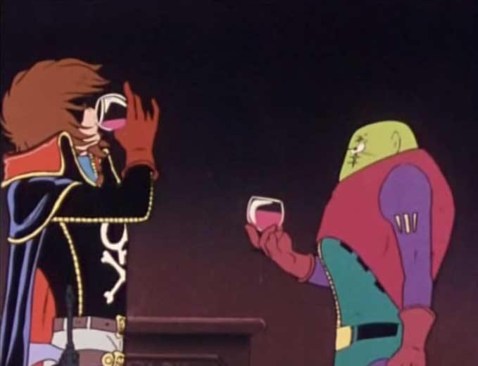 Albator invite Torus à boire un verre dans ses quartiers