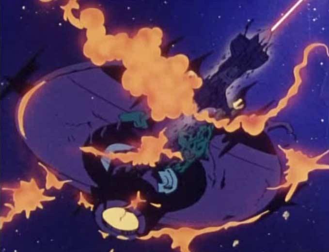 L'Atlantis traverse le vaisseau sylvidre pour le détruire