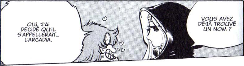 Toshiro tombe amoureux d'Emeraldas alors qu'il était enfant, lors de sa première rencontre avec elle.
