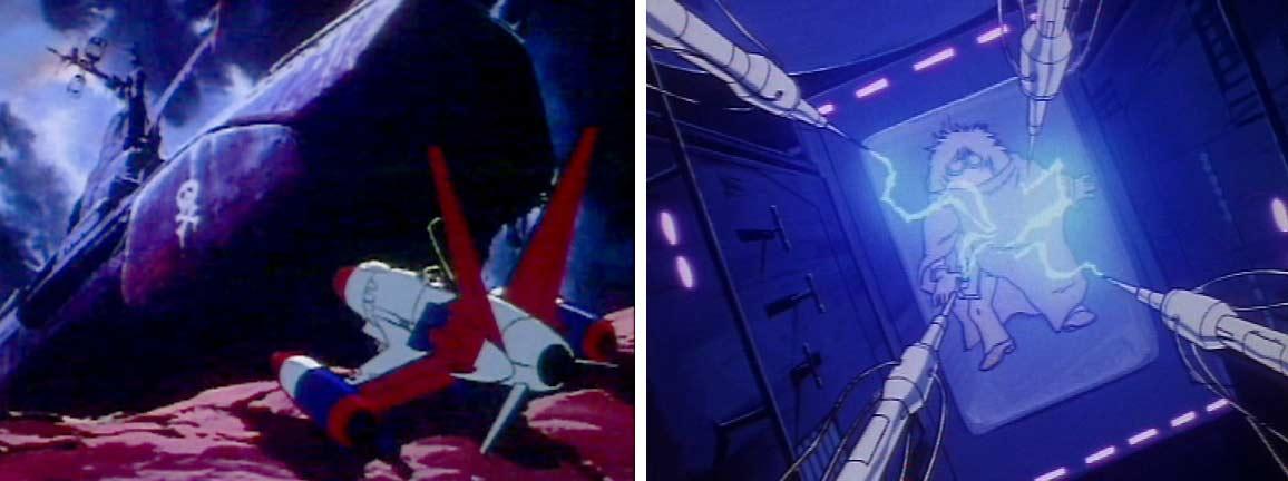 Se sachant condamné, Toshiro retourne à l'épave de l'Ombre de la mart pour utiliser une machine qui transfèrera son âme dans l'ordinateur de l'Atlantis
