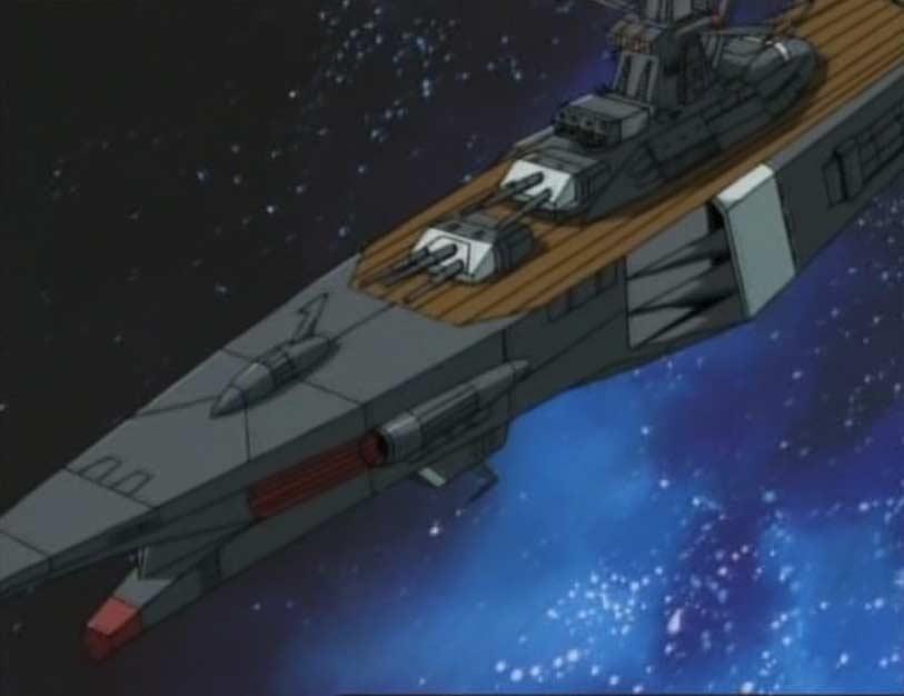 Warrius tente d'arrêter Alabtor avec son vaisseau le Kagero qui est un modèle moins performant que son ancien navire