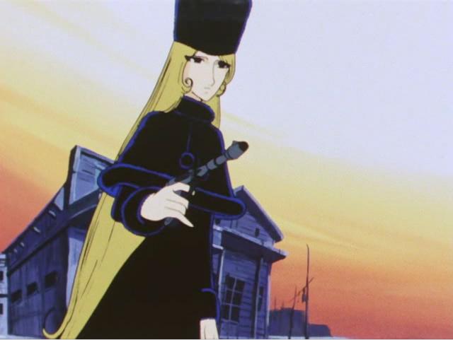 l'arme de Maetel est un Cosmo Dragoon (ou Cosmo Gun)