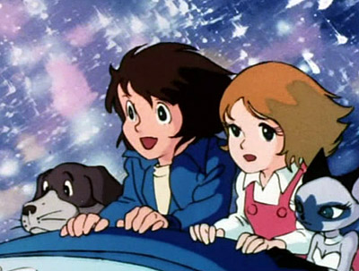 Leiji Matsumoto s'est beaucoup inspiré de l'Oiseau Bleu pour faire Galaxy Express 999 notamment en ce qui concerne le principe du voyage initiatique