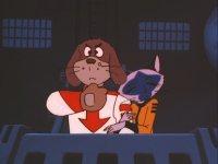 Dans l'épisode 12 de l'Oiseau Bleu, le chien revêt de costume de Susumu Kodai, un personnage de la série Yamato de Leiji Matsumoto