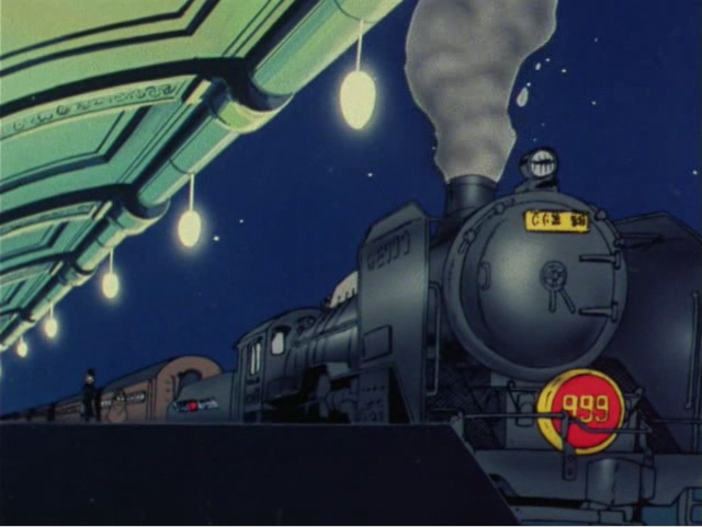 Maetel voyage à bord du train spatial Galaxy Express 999