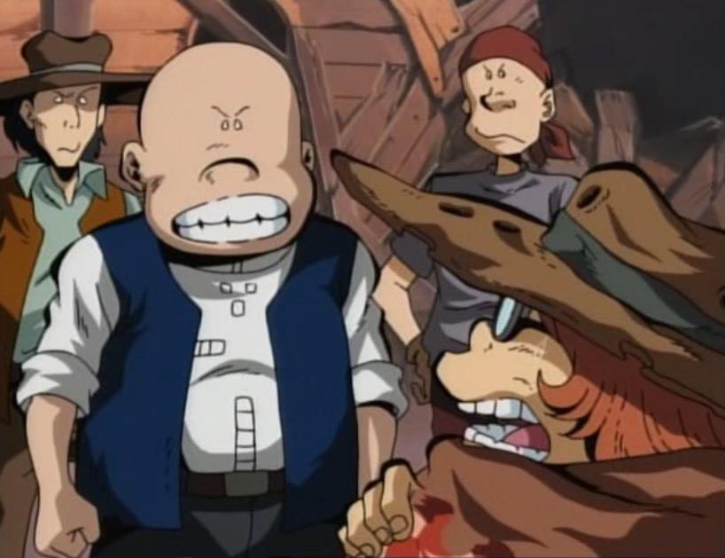 Les villageois rendent Toshirô responsable du désastre