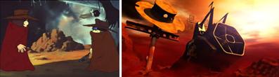 Tetsurô rencontre Toshirô dans le film Galaxy Express 999. Il va aider Toshirô à envoyer son âme dans l'Atlantis.