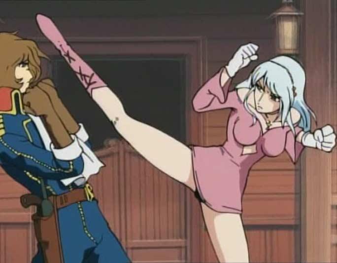 Sylviana tente d'affronter Albator au corps à corps