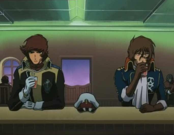 Warius et Albator se retrouvent autour d'un verre