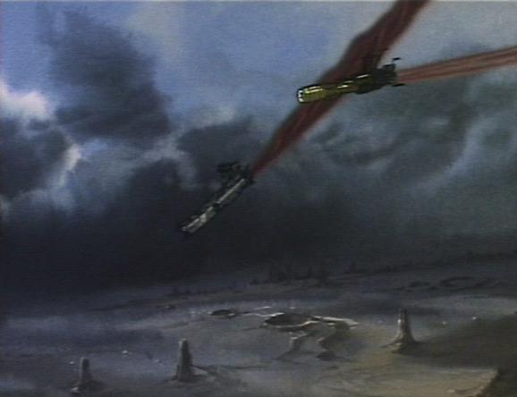 Une fois l'ordinateur détruit l'Ombre de la Mort cesse le combat et va s'échouer sur le sol d'une planète