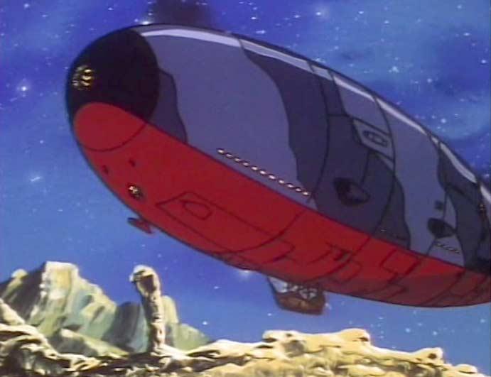Toshirô réussit finalement à réparer le Queen Emeradas qui fini par décoller
