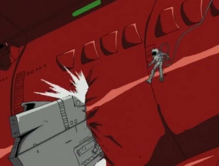 Ishikura dégage le débris à l'aide d'explosifs