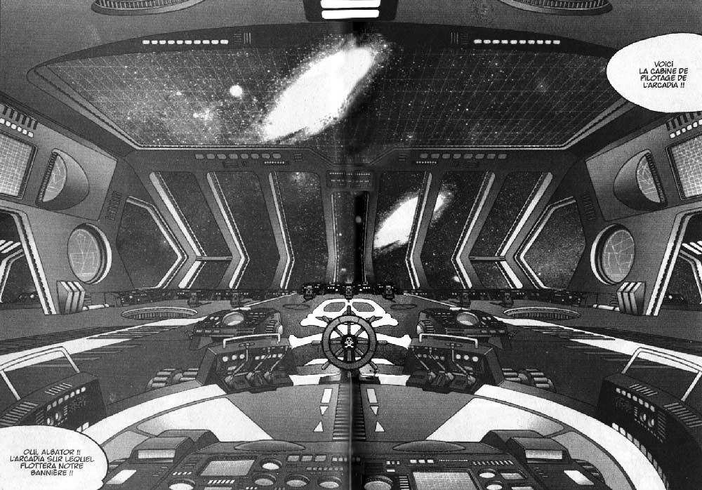 Poste de pilotage de l'Atlantis (Arcadia) dans l'Anneau des Nibelungen (Albator - Harlock)