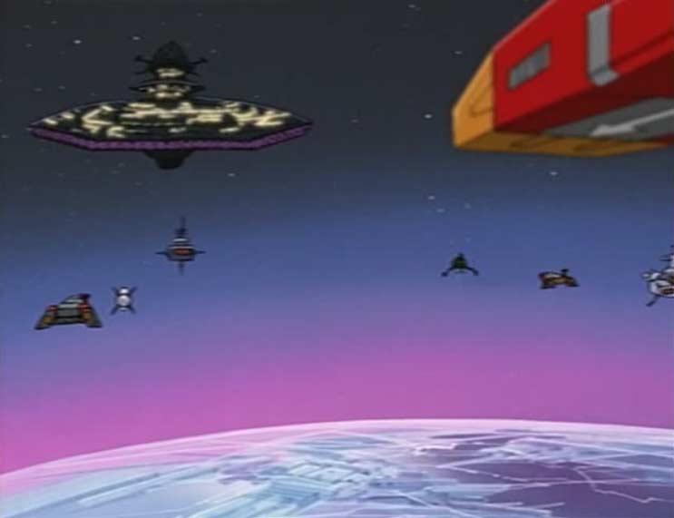 La flotte rebelle s'apprête à affronter le Hell Castel (Cosmowarrior Zero - Episode 12)