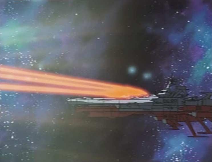 Les tirs du Karyu sont déviés par le champ gravitationnel du Hell Castle
