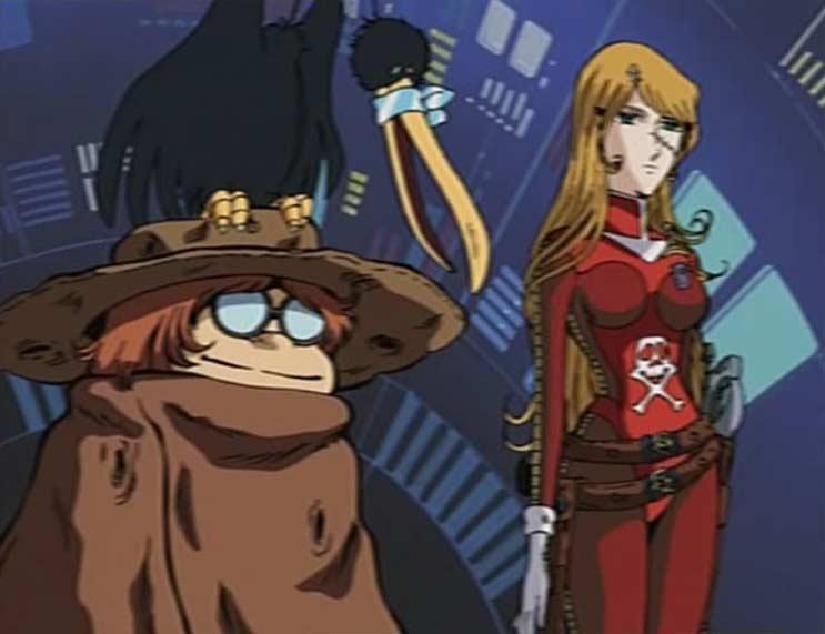 Toshirô et Emeraldas regardent les manoeuvres du Karyu