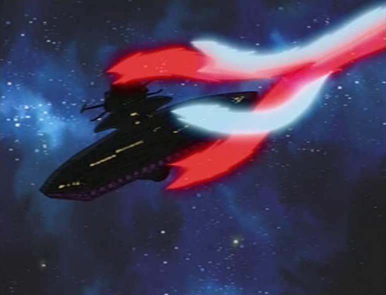Le Hell Castle est enveloppé par le Rayon du Canon de St Elme (Cosmowarrior Zero - Episode 13)