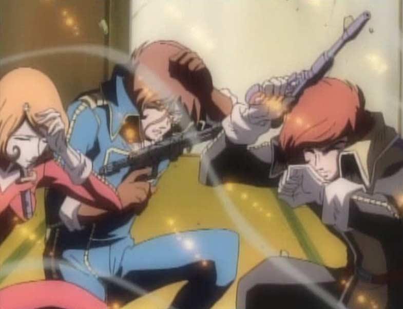 Les pirates bombardent l'extérieur de la maison pour intimider Albator