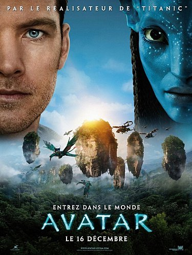 Affiche du film Avatar de James Cameron
