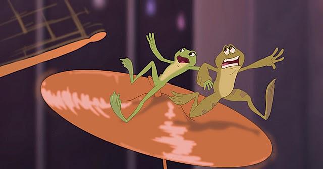 Naveen et Tiana en grenouille