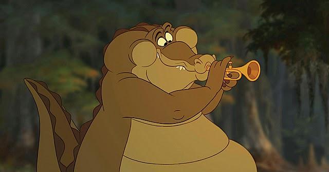 Louis l'alligator qui joue de la trompette