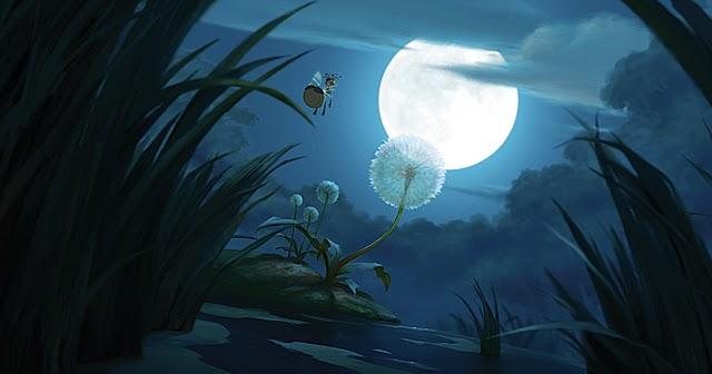 Ray fasciné par la lune qui brille