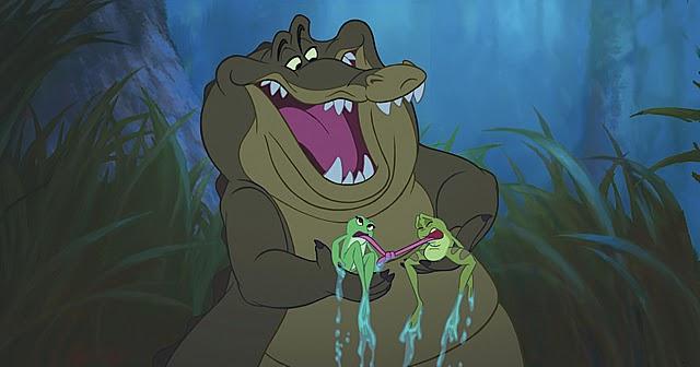 Louis est d'une aide précieuse pour guider les deux grenouilles