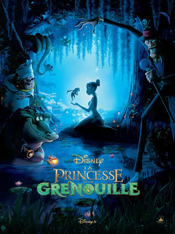 Affiche française La princesse et la grenouille
