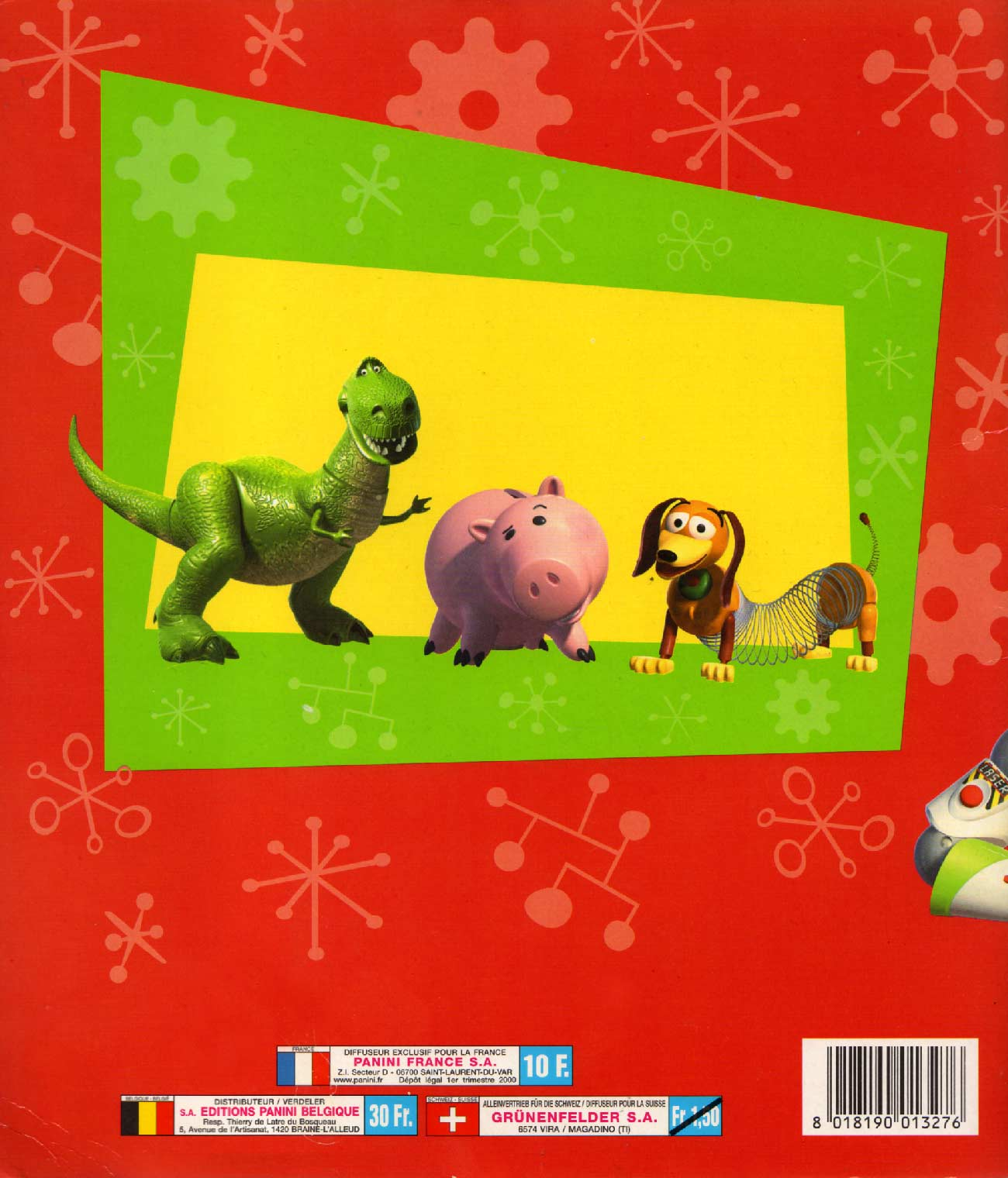 Album Panini : Toy Story 2 (couverture dos)