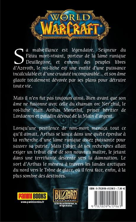 Dos du livre, Arthas l'Ascension du roi liche