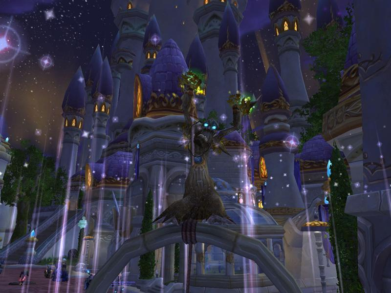 Capture de Dalaran de World of Warcraft (source : Screenshot du jour)
