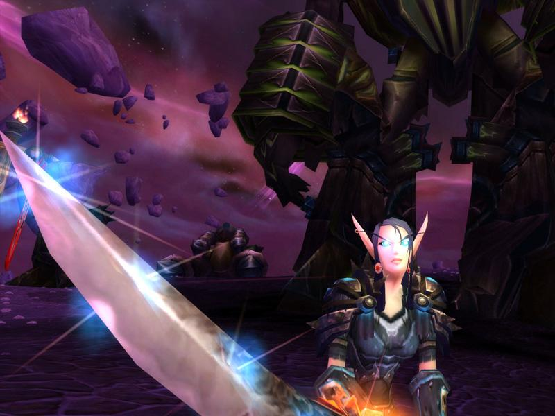 Capture d'une elfe de sang en Outreterre World of Warcraft (source : Screenshot du jour)